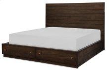 Panel Bed w/ Storage Footboard