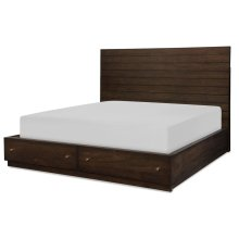 Panel Bed w/ Storage Footboard