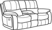 Woodstock Fabric Power Reclining Loveseat with Console