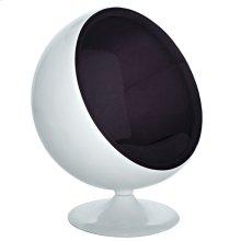 Kaddur Fiberglass Lounge Chair in Black