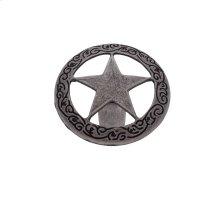 """Antique Satin Nickel 1-7/16"""" Medium Star Knob"""