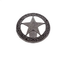"Antique Satin Nickel 1-7/16"" Medium Star Knob"