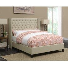 Benicia Beige Upholstered California King Bed