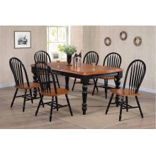 DLU-SLT4272-820-BCH7PC  7 Piece Extendable Dining Set  Arrowback Chairs