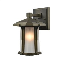 Brighton 1-Light Outdoor Wall Lamp in Smoked Bronze