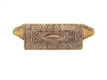 """Solid Brass, Symphony, Eastlake Inspirations, Cup Pull, 3-1/2""""cc, Cottage Antique finish"""