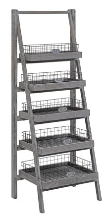 Hastings 5 Tier Charcoal Grey Angled Etagere with Removable Metal Baskets