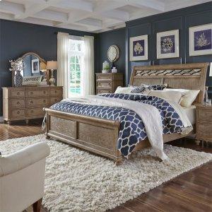Liberty Furniture Industries Queen Sleigh Bed, Dresser & Mirror, Chest