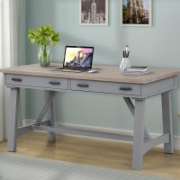 Americana Modern Dove 60 in. Writing Desk Product Image