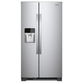 Whirlpool® 33-inch Wide Side-by-Side Refrigerator - 21 cu. ft. - Monochromatic Stainless Steel