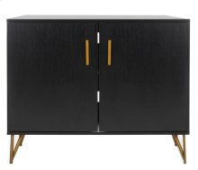 Pine 2 Door Modular TV Unit - Black / Gold