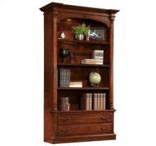 Weathered Cherry Executive Bookcase