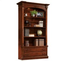 Weathered Cherry Executive Bookcase