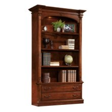 office@home Weathered Cherry Bookcase
