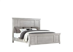 Complete Panel Bed 5/0 Queen-headboard-footboard-siderails-grey Finish