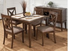 Tuscon Dining Table With Four Nova Dining Chairs