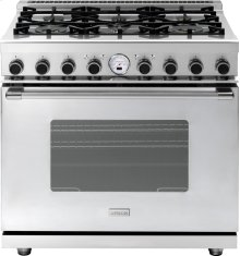 "Range NEXT 36"" Classic Stainless steel 6 gas, electric oven, self-clean"