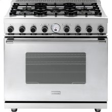 """Range NEXT 36"""" Classic Stainless steel 6 gas, electric oven, self-clean"""