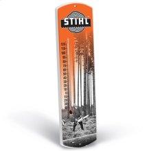 Feel nostalgic with this vintage STIHL thermometer.