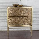 Crinkle Bedside Chest-Brass/Bronze Product Image