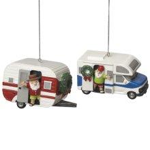 RV and Camper Ornament (2 asstd).