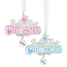 """Baby's First Christmas"" Ornament. (12 pc. ppk.)"