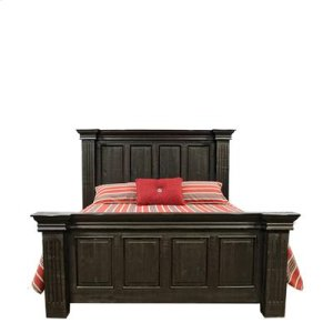"King : 89"" x 94"" x 74"" Terra Extra Dark Bed"