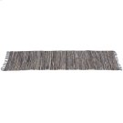 Blue & Beige Leather Chindi 2'x6' Rug (Each One Will Vary) Product Image