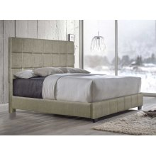 "Brooklyn Queen Bed, Sand 64""X4""x58"""