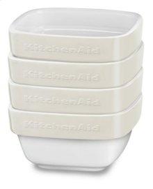 Ceramic 4-Piece Stacking Ramekin Bakeware Set - Almond Cream