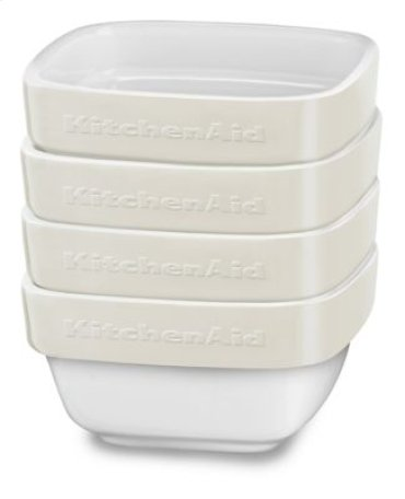 Ceramic 4-Piece Stacking Ramekin Bakeware Set - Almond Cream