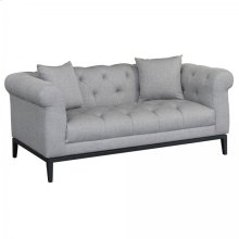 Armen Living Glamour Contemporary Loveseat