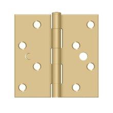 "4""x 4"" Square Hinge - Brushed Brass"