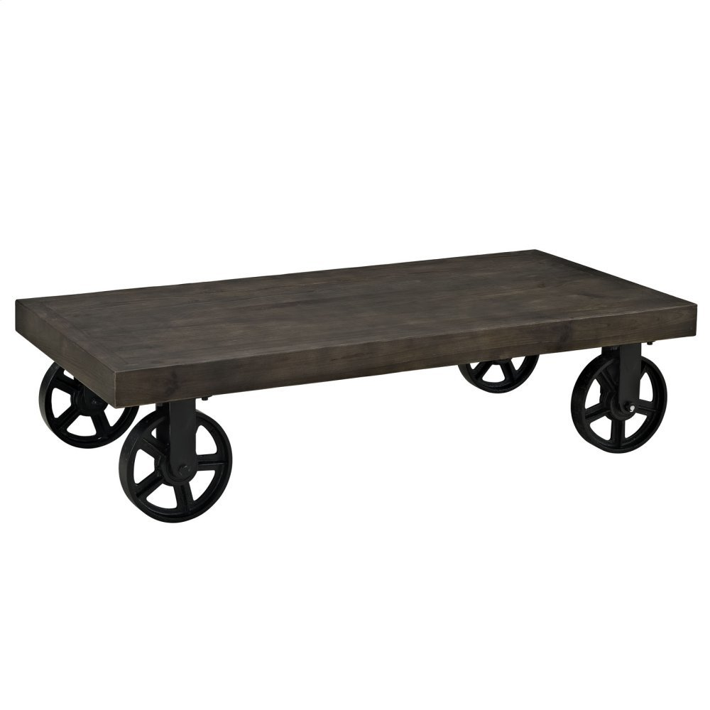 Garrison Wood Top Coffee Table in Black