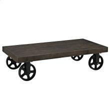 Garrison Wood Top Coffee Table in Black
