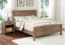 Alstad Bed - Queen, Pine Cone Finish