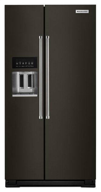 24.8 cu ft. Side-by-Side Refrigerator with Exterior Ice and Water - Black Stainless