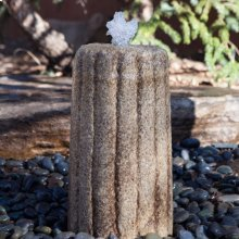 Small Antique Grindstone Fountain