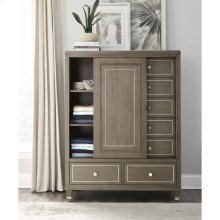 Dara Two - Sliding Door Chest - Gray Wash Finish