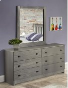 Gray Dresser & Mirror Product Image