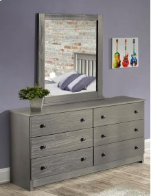 Gray Dresser & Mirror