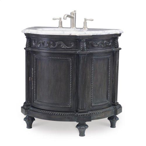 Demilune Sink Chest - Black