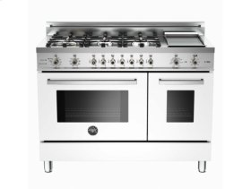 White 48 6-Burner, Electric Double Oven