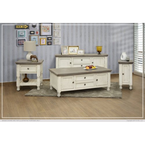 2 Drawer, 2 Doors, Shelf Sofa Table