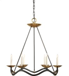 Visual Comfort S5040AI Barry Goralnick Choros 6 Light 29 inch Aged Iron with Hand-Rubbed Antique Brass Accents Chandelier Ceiling Light in Aged Iron with Wax