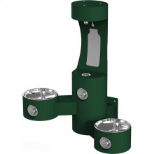 Elkay Outdoor EZH2O Bottle Filling Station Wall Mount, Bi-Level Non-Filtered Non-Refrigerated