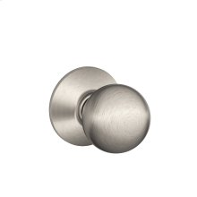 Orbit Knob Hall & Closet Lock - Satin Nickel