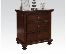 Nightstand W/3 Drawers , LED