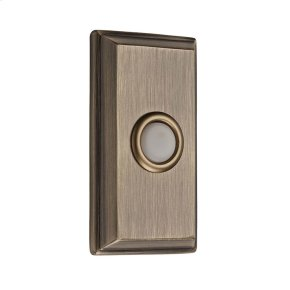 Matte Brass & Black BR7015 Rectangular Bell Button