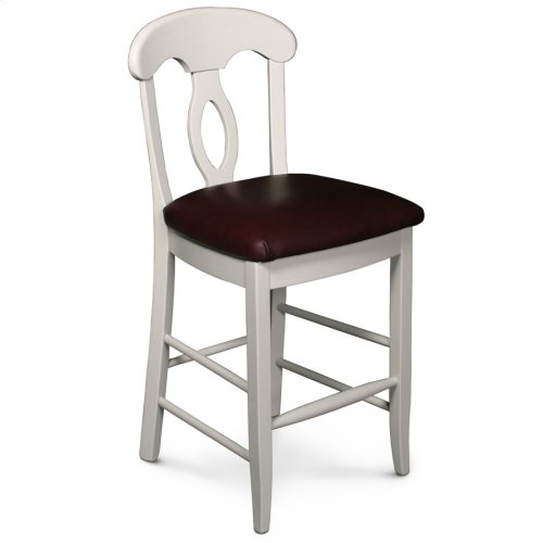 "Carlo Stationary Barstool, 30"" Seat Height"